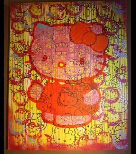 tableau popart hello-kitty